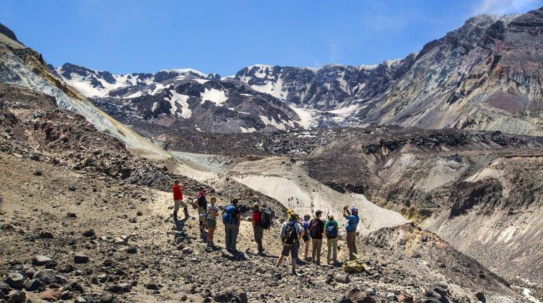 Mount St. Helens Crater Glacier