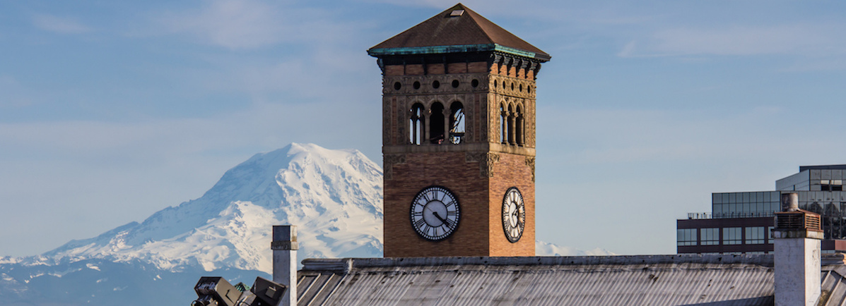 """Mt Rainier is """"out"""" in Old Tacoma. Credit: Joe, Flickr"""