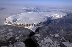 NASA's Operation IceBridge Survey Flight Over Saunders Island and Wolstenholme Fjord. Source: NASA Goddard Space Flight Center (via Flickr).