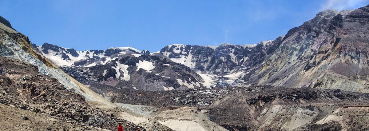 Mount St. Helens' crater glacier