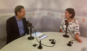 Baktygul Chynybaeva interviewing Ben Orlove on Kyrgyz television source:Ryskeldi Sakte