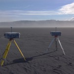 Dust storms reduce visibility in Southern Iceland. These DustTrak instruments determine the amount of dust in suspension and the particle sizes.