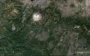 google earth map showing region where Shasta Park was found