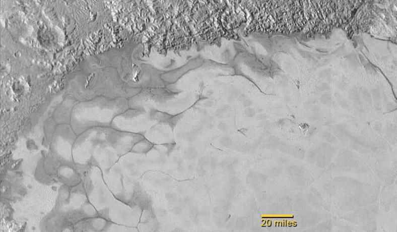 Ice flow on the Northern region of Pluto's Sputnik Plain