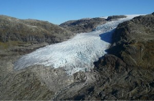 Rembesdalsskaka Glacier, one of the 8 study glaciers (source:NVE)