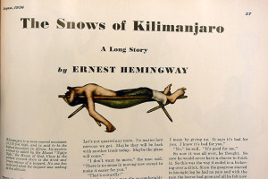 "First publication of ""The Snows of Kilimanjaro"" (source: University of South Carolina library)"