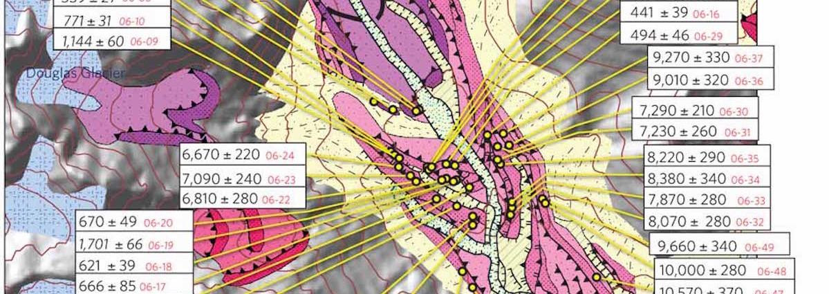 Cameron Glacier Valley Map