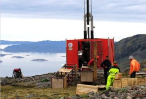 The site of the Kvanefjeld uranium and rare earth element project in southern Greenland