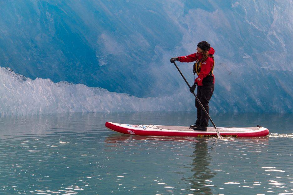 Paddleboarding Glacier Bay