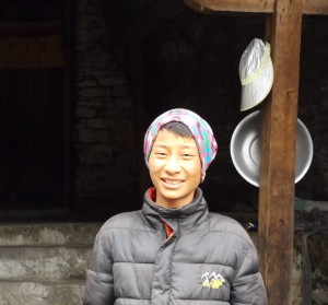 Tshering Wangchuk, the son of the temple's caretaker (source: Ben Orlove)