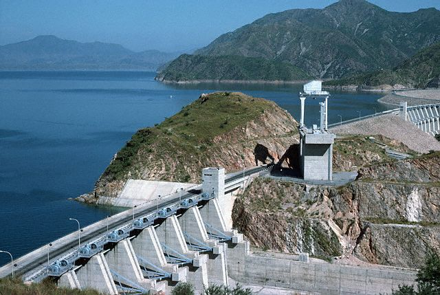 Pakistan's Tarbela Dam, along the Indus River, is fed by glacial water from the Himalayas. Image by © Christine Osborne/CORBIS