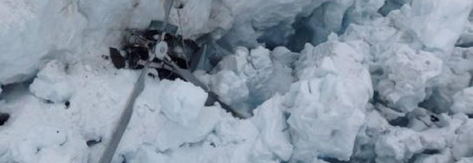 Helicopter Crashes in New Zealand Glacier