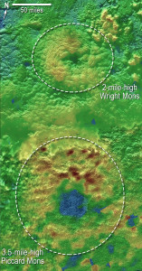 Elevation maps of Pluto