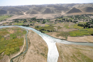 Irrigated agriculture in arid region of western Afghanistan (source: M. O'Connor)