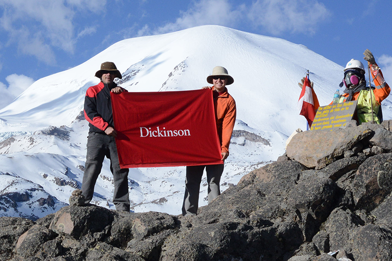 Professor Benjamin Edwards (left) and Will Kochtitzky (right) conducted a 2015 field season at Coropuna, Peru