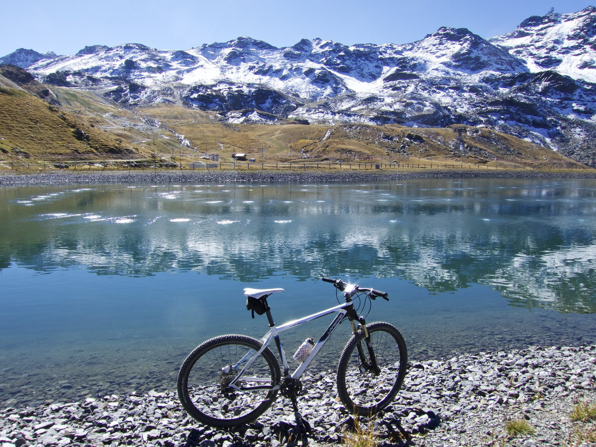 Artificial Lake at roughly 2500m, Alps, France. Photo by: will_cyclist/Flickr