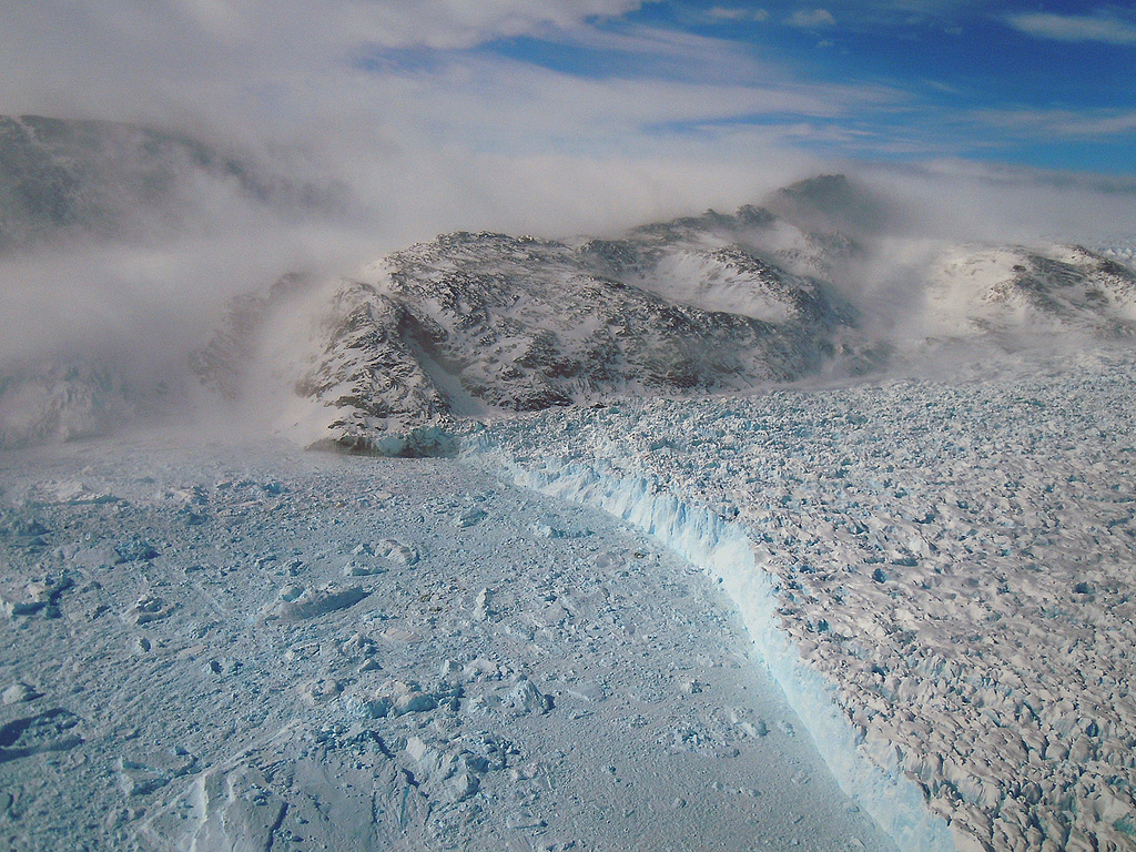 Gyldenlove Glacier, Greenland. Photo by NASA Goddard Space Flight Center.