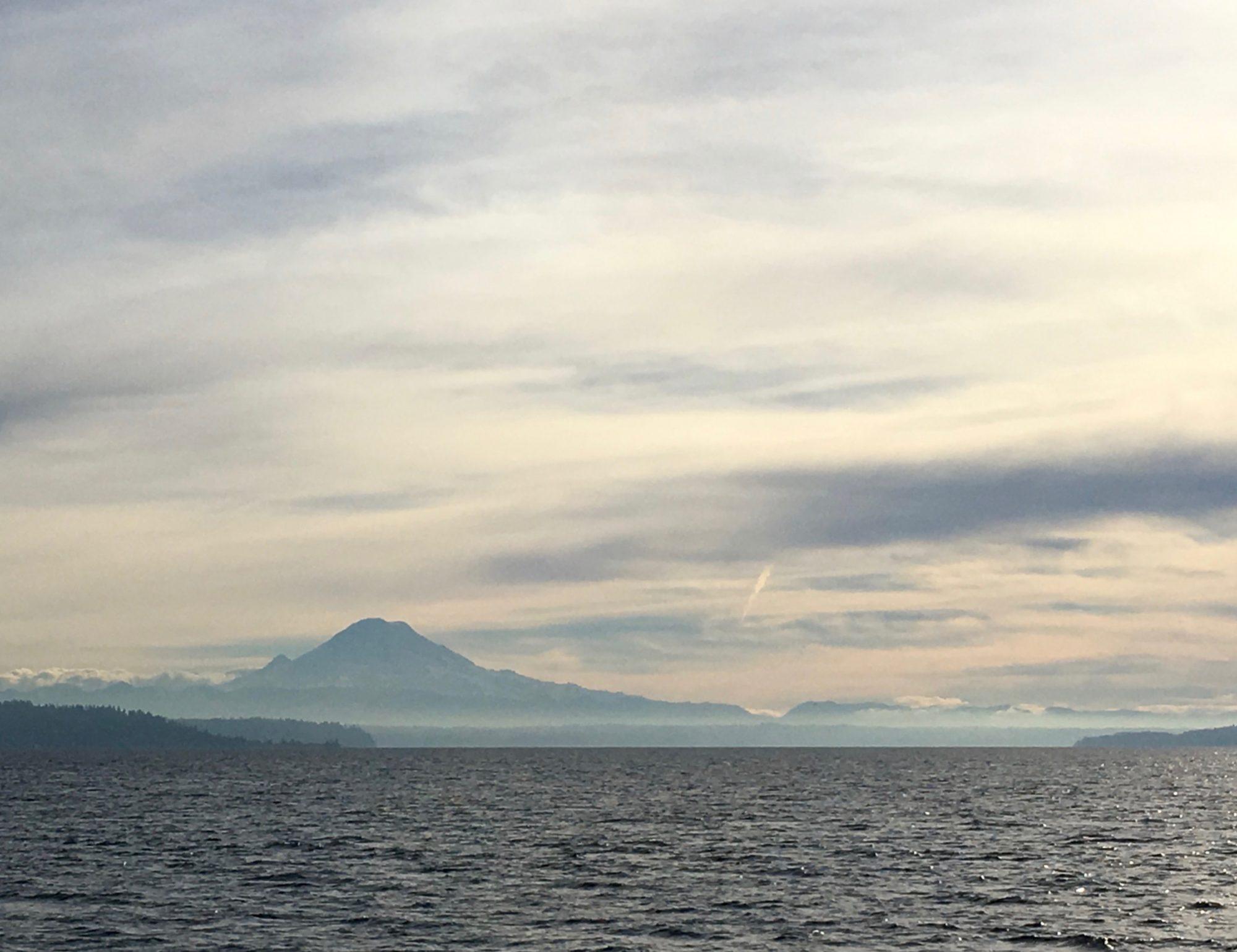 Mt. Rainier over the Puget Sound