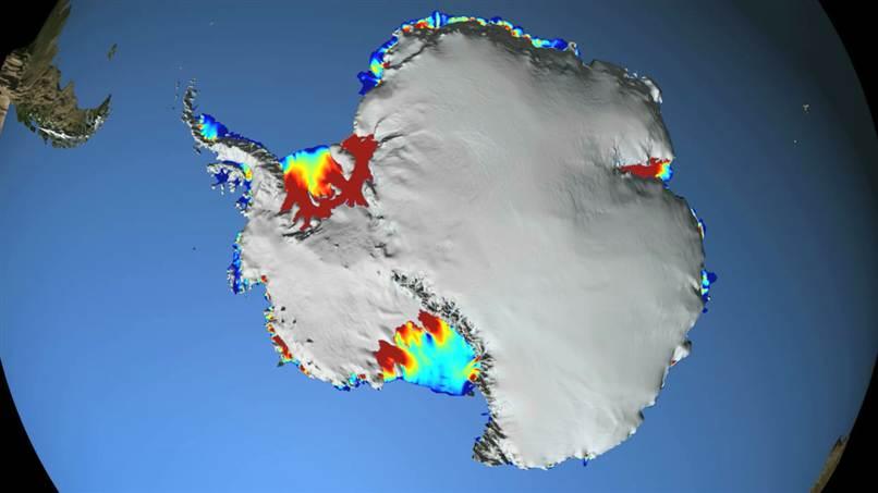 Antarctic Ice Shelf Map