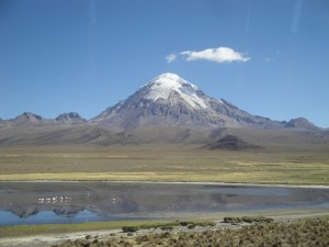 Sajama, a glaciated peak in the Lake Poopó basin (source: D. Hoffmann)