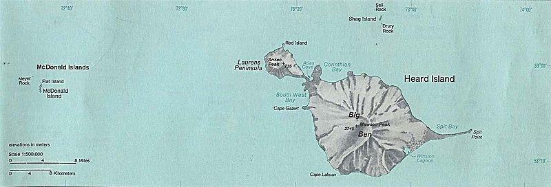 1976 Map Heard Island