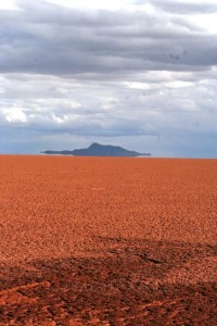 Dried bed of Lake Poopó (source: D. Hoffman)