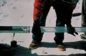 A significant source of paleoclimate data comes from ice cores like these ones. The gases trapped in the cores can tell a story of how the Earth was at that time. (Photo: Lonnie Thompson, The Ohio State University/NOAA)