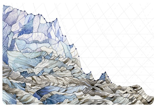Jill Pelto: Decrease in Glaciers