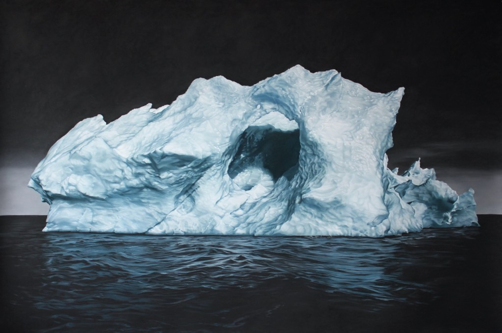 Svalbard no.33, 60x90, Soft pastel on paper, year. Image courtesy of Zaria Forman.