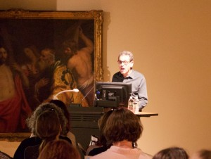 Ben Orlove giving a talk, Lowe Art Museum, Miami (source: Univ. of Miami)