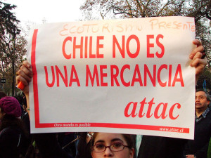 A protester demonstrating against gold mining in Chile in 2005. Credit: David Boardman, Flickr.