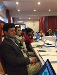 Journalists and researchers at a joint panel, Indus basin conference (source: Farah Ahmed/Tiwtter)