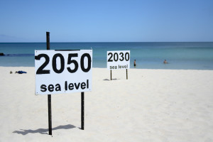Visual depiction of sea level rise. (Source: go_greener_oz/Flickr)