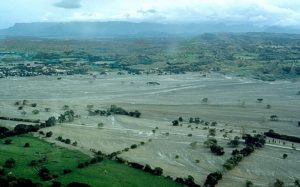 The city of Armero after the destructive lahar from the Volcan del Ruiz in November 1985 (source: Marso/USGS)