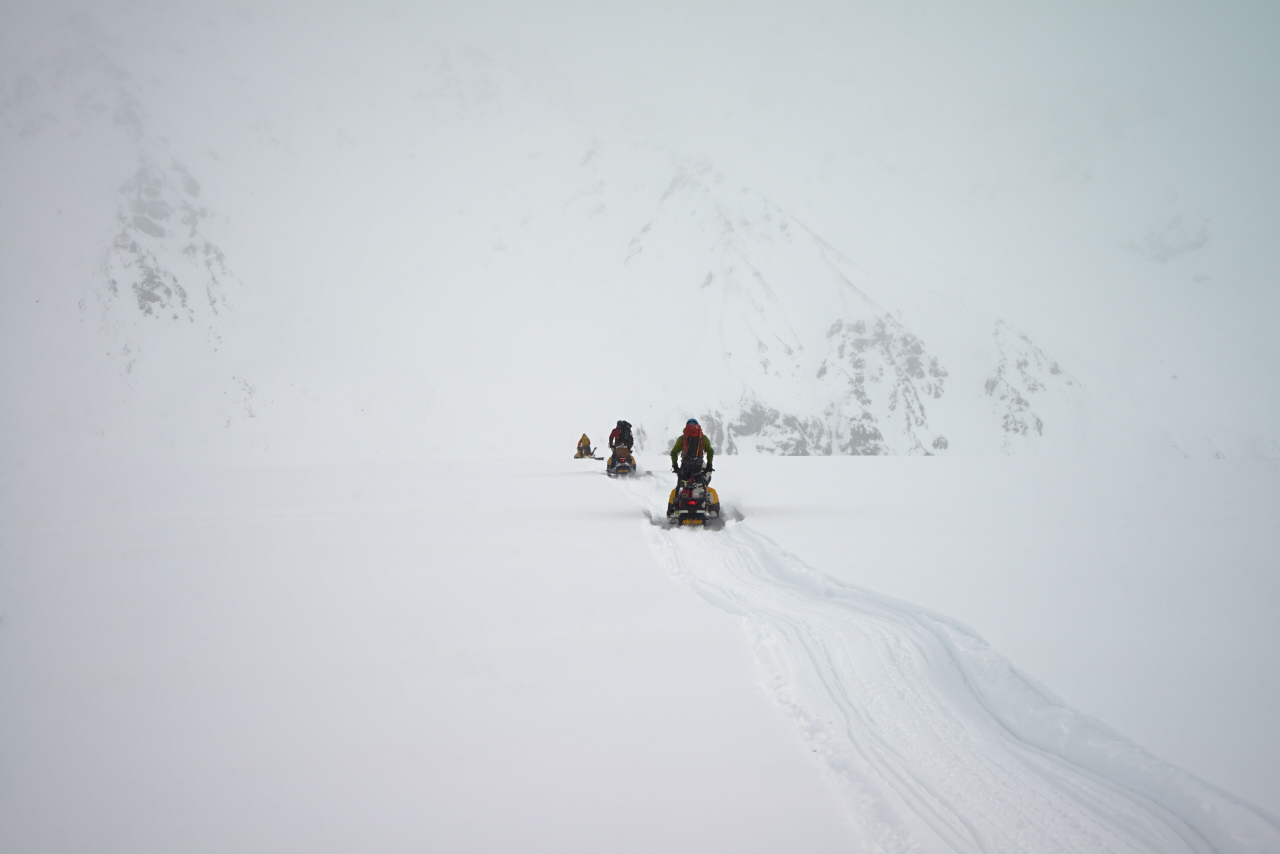 Snowy Gulkana Glacier