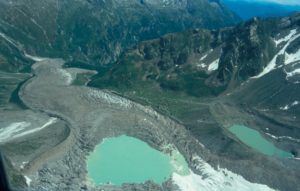 Glacier lake Effimero and Belbadere Glacier in Italy (Source: GLACIORISK)