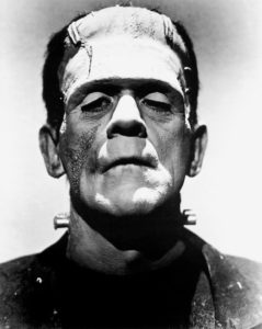 Boris Karloff as the monster in Frankenstein, 1931 (source: Universal Studios)