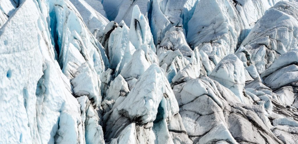 The heavily crevassed surface of Matanuska Glacier (Source: Tish Millard)