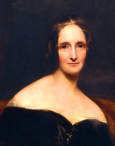 Mary Shelley, 1840 (source: Robert Rothwell)