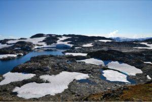 Vossaskavlen snowdrift glacier plateau (source: Øystein Skår/J Glac Arch)