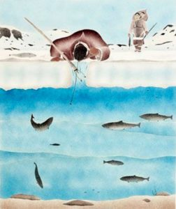 Andrew Qappak, Favourite Place to Be, 1987 (source: Inuit Art Quarterly)