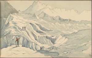 Scene on the Mer de Glace, Thomas Henry Graham, 1818 (source: Pforzheimer Collection/NYPL)