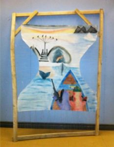 Mural produced by Inuit artists in Pangnirtung, Nunavut, Canada (source: Ecology and Society)