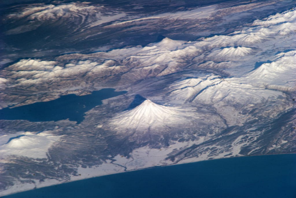 Kamchatka Peninsula as seen from the International Space Station (NASA)