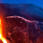 """Eyjafjallajökull's """"lavafall"""", March 2010 (Source: National Geographic)"""