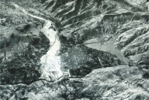 The city of Huaraz, devastated by the 1941 GLOF (Source: The Mountain Institute)
