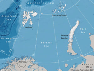 The Barents Sea and surrounding land areas (Source: Polar Research)
