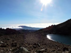 Glacier lake on Mount Kenya (Source: Cheyenne Smith)