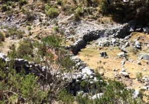 Stone wall built by herders to control movement of livestock (source: Ben Orlove)