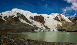 Newly-formed Lake 13, a source of GLOF risk (source: R. Diaz)